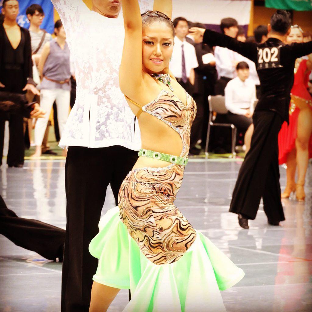 学生競技ダンス東部戦 ドレス着用写真
